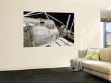 The Pressurized Mating Adapter 3 in the Grasp of the Canadarm2 Wall Mural