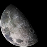 Color Mosaic of the Earth&#39;s Moon Photographic Print