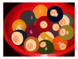 Vintage Cueballs with Provenance Impression giclée par Lisa Weedn