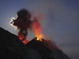 Stromboli Eruption, Aeolian Islands, North of Sicily, Italy Photographic Print