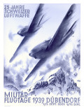 1939 Swiss Luftwaffe Aviation Poster Posters