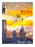 Grande Semaine d'Aviation Rouen Giclee Print