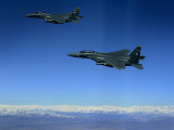 US Air Force F-15E Strike Eagles Approach a Mission Objective in Eastern Afghanistan Photographic Print
