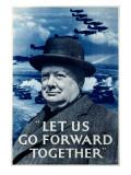 WWII RAF Churchill Spitfire Digitálně vytištěná reprodukce