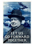 WWII RAF Churchill Spitfire Posters