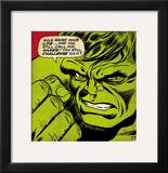 Marvel Comics Retro: The Incredible Hulk Comic Panel Framed Giclee Print