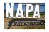 Napa Valley Sign Photographic Print by George Oze