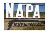 Napa Valley Sign Impressão fotográfica por George Oze