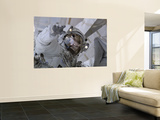 Astronaut Participates in a Session of Extravehicular Activity Wall Mural