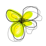 Yellow Petals 4 Gicleetryck av Jan Weiss