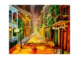 Night on Royal Street Stampa giclée di Diane Millsap