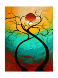 Twisting Love Print by Megan Aroon Duncanson