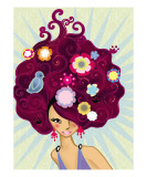 Beehive Babe Giclee Print by Natasha Wescoat