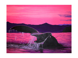 Pink Whale Giclee Print by Megan Aroon Duncanson