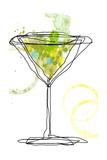 Wild Apple Martini Giclée-tryk af Jan Weiss