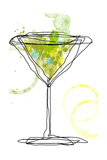 Wild Apple Martini Giclee Print by Jan Weiss