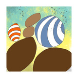 retro rocks Three Giclee Print by Jan Weiss
