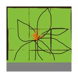 Atomic Floral One Giclée-Druck von Jan Weiss