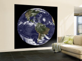 Full Earth Showing North America and South America Wall Mural – Large