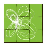 Atomic Floral Three Giclée-Druck von Jan Weiss