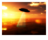 UFO Over Water 12 Photographic Print by Chris Harvey