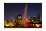 Chicago Black Hawks Skyline Fotografisk tryk af Patrick Warneka