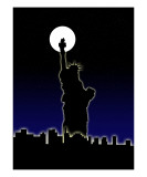 Statue Of Liberty And New York City Photographic Print by Chris Harvey