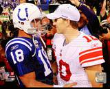 Peyton Manning & Eli Manning 2010 Action Photo