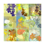 Floral Shadows-9 Patch Pôsters por Jan Weiss