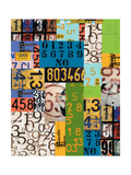 By The Numbers Gicleetryck av Jan Weiss