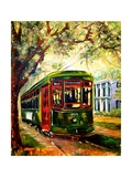 New Orleans St Charles Streetcar Lmina gicle por Diane Millsap