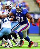 Justin Tuck 2010 Action Photo