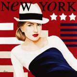 Femme New York Art by Anne Bernard