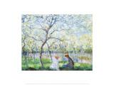 Primavera Posters por Claude Monet
