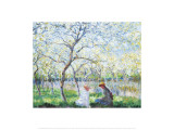 Spring Prints by Claude Monet