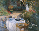 The Lunch Prints by Claude Monet