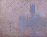 The Houses of Parliament, The Seagulls Print by Claude Monet