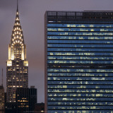 Chrysler and UN Buildings Prints by Torsten Hoffmann