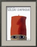French Soldiers of Africa Framed Giclee Print