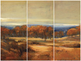 Golden Horizon Triptych Poster by Jill Barton