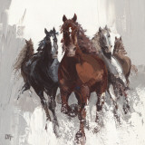 Les Chevaux II Prints by Bernard Ott
