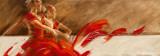 Duo in Red Kunstdrucke von Kitty Meijering