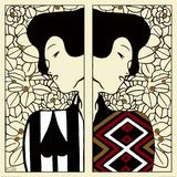 Siluetit I ja II, n. 1912 Juliste tekijänä Gustav Klimt