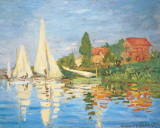Regattas in Argenteuil Posters av Claude Monet