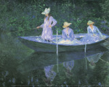 The Boat at Giverny Poster af Claude Monet