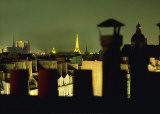 Eiffel Tower Seen from the Roofscape of Paris Prints by Franck Charel