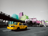 Chelsea Cab Prints by Anne Valverde