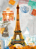 Paris Vintage Kunstdruck von Robin Jules