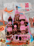 Moscow Vintage Poster by Robin Jules