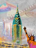 New York Vintage Kunstdrucke von Robin Jules